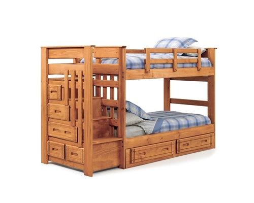 wooden bunk beds with stairs and drawers twin wood side drawers stairway bunk bed WYJBFNR