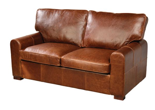 Cherokee 2 Seater Leather Sofa. Quality Oak furniture from The