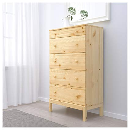 Amazon.com: Ikea 5-drawer chest, pine: Kitchen & Dining