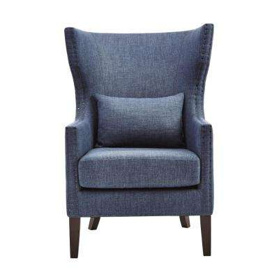 Wingback Chair - Solid - Blue - Accent Chairs - Chairs - The Home Depot