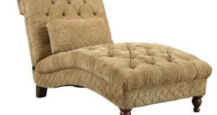 Bowery Hill Accent Seating Golden Toned Accent Chaise, Desert Sand