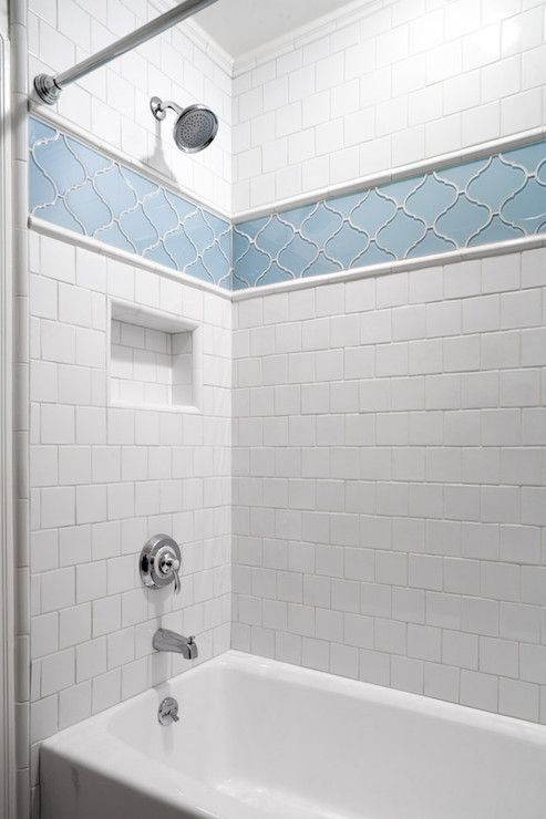 Blue Arabesque Tiles, Transitional, bathroom, JWT Associates | 1148