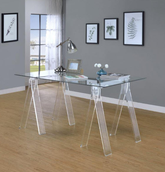 Velma Clear Acrylic Desk