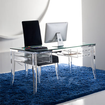 Modern Acrylic Desk - Mecox Gardens