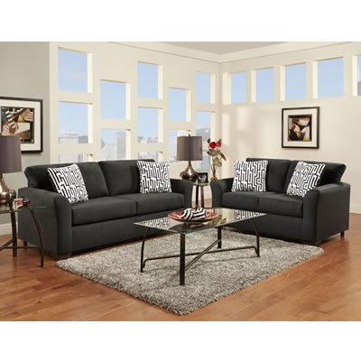 Affordable Furniture Mfg Sofas Sensations 3303 Sofa (Black