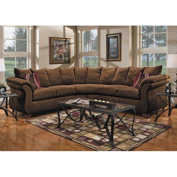 Rae 2PC Chocolate Sectional P-675-2PC | Affordable Furniture | AFW