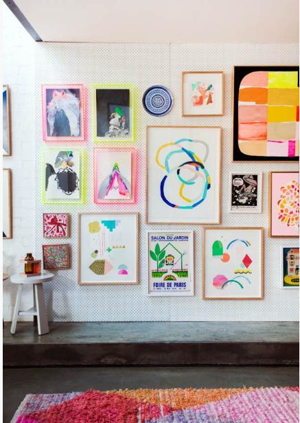 Pinterest ArtWall Awesome Art Wall - Webbiecreations.com