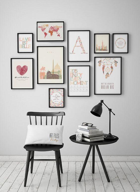 Geometric prints, Geometric posters, triangles art, minimalist art