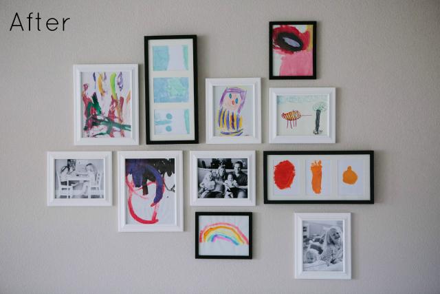 Kids Art Gallery Wall | Design Improvised