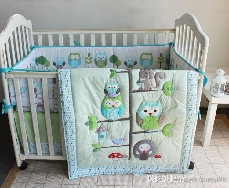 Spanish Baby Bedding Set Boy Crib Bed Set Owl On Tree Home Inc