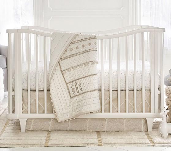 Micah Metallic Baby Bedding Sets   Pottery Barn Kids