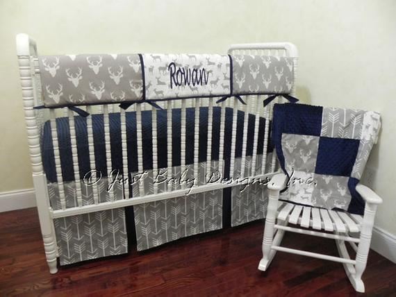 Baby Boy Bedding Set Rowan Boy Crib Bedding Crib Rail | Etsy