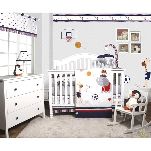 Harriet Bee Porter Animal Sports Festival 6 Piece Baby Boy Nursery