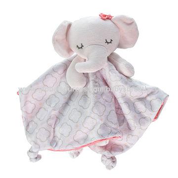 China Eco-friendly Baby Comforter Animal Soft Baby Blanket Toy on