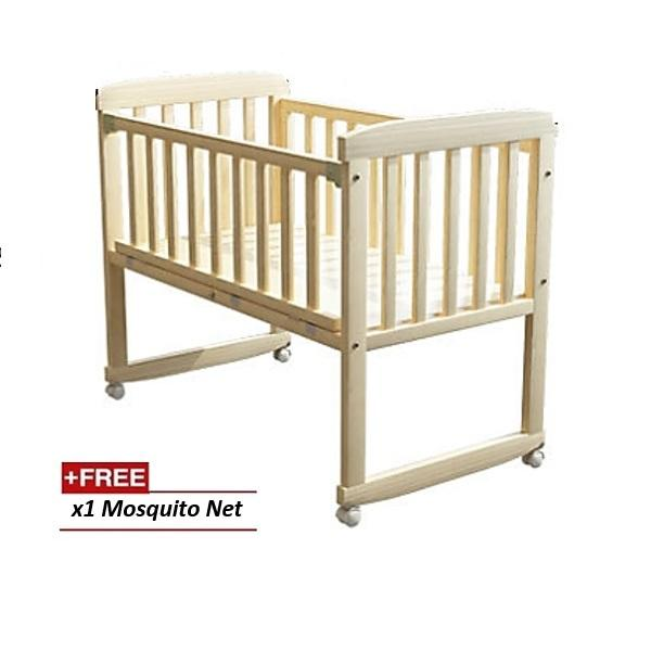 Cradle Baby Cot Wooden Rocking baby cot Baby bed | Lazada