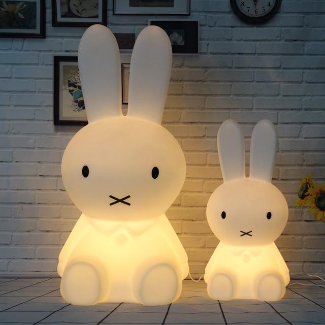Dimmable Rabbit Lamp Led Night Light for Baby Children Kids Gift