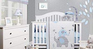 Amazon.com : GEENNY OptimaBaby Blue Grey Elephant 6 Piece Baby