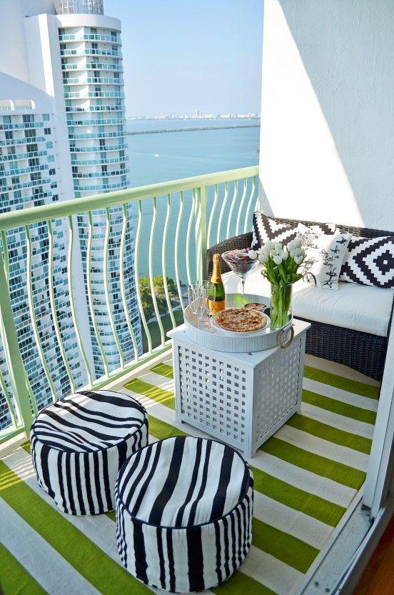 Small balcony furniture | BALKON w 2019 | Pinterest | Apartment