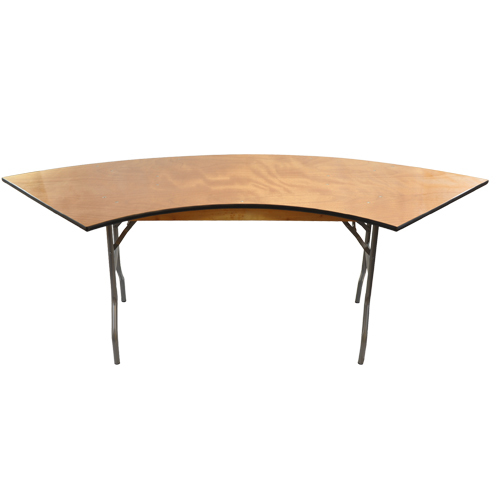 6 ft. Serpentine Wood Folding Banquet Table | Folding Tables