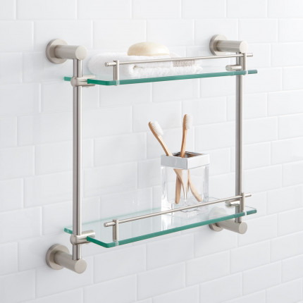 Bathroom Shelves: Glass, Wood, and Marble Shelves | Signature Hardware