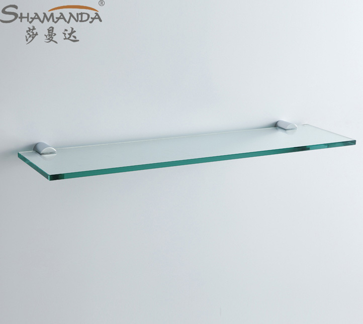 Single Bathroom Shelf/Glass Shelf,Brass Made Base+Glass Shelf