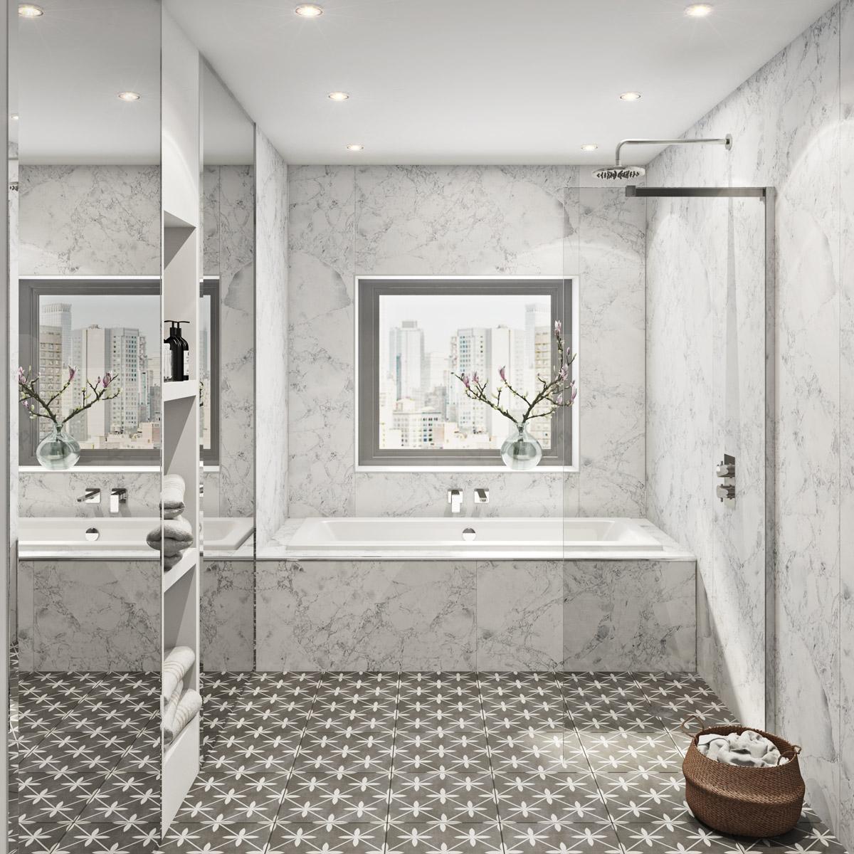 Multipanel Linda Barker shower wall panels | VictoriaPlum.com