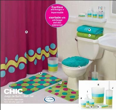 Amazon.com: Limited Edition 'Chic' Complete Bathroom Set with