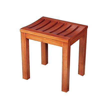 Amazon.com: Bathroom Stool Solid Wood Stool Cedar Wood Bench Stool