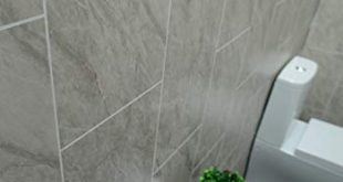 Claddtech Grey Marble Bathroom Wall Panels Tile Effect cladding Used