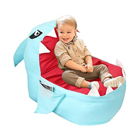 Amazon.com: YHOUSE Cute Shark Bean Bag Chair Cover Kids, Soft Canvas