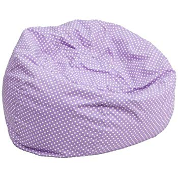Amazon.com: Flash Furniture Small Lavender Dot Kids Bean Bag Chair