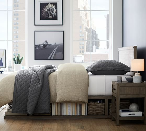 Brooklyn Storage Bed & Headboard | Pottery Barn