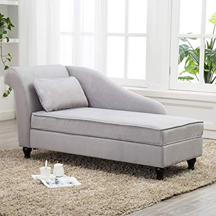 Amazon.com: Chaise Lounge Storage Sofa Chair Couch for Bedroom or