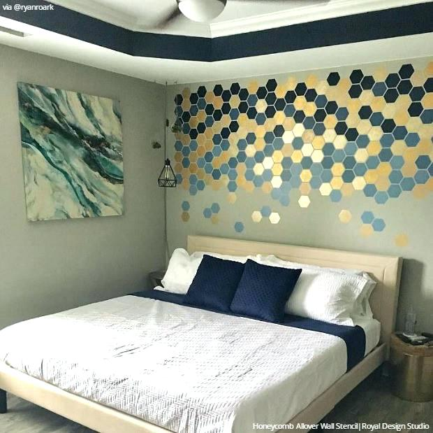 Bedroom Wall Designs Bedroom Wall Stencil Designs To Sleep In Style