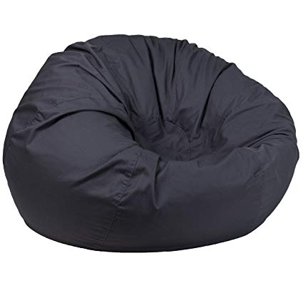 Amazon.com: Flash Furniture Oversized Solid Gray Bean Bag Chair