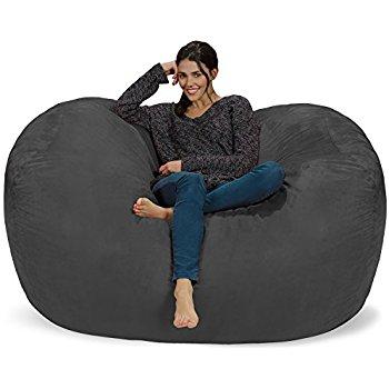 Amazon.com: Chill Sack Bean Bag Chair: Huge 6' Memory Foam Furniture