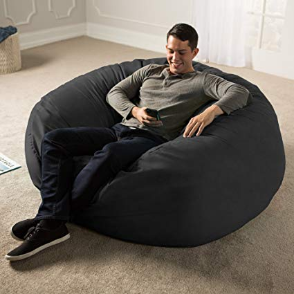 Amazon.com: Jaxx 5 Foot Saxx - Big Bean Bag Chair for Adults, Black
