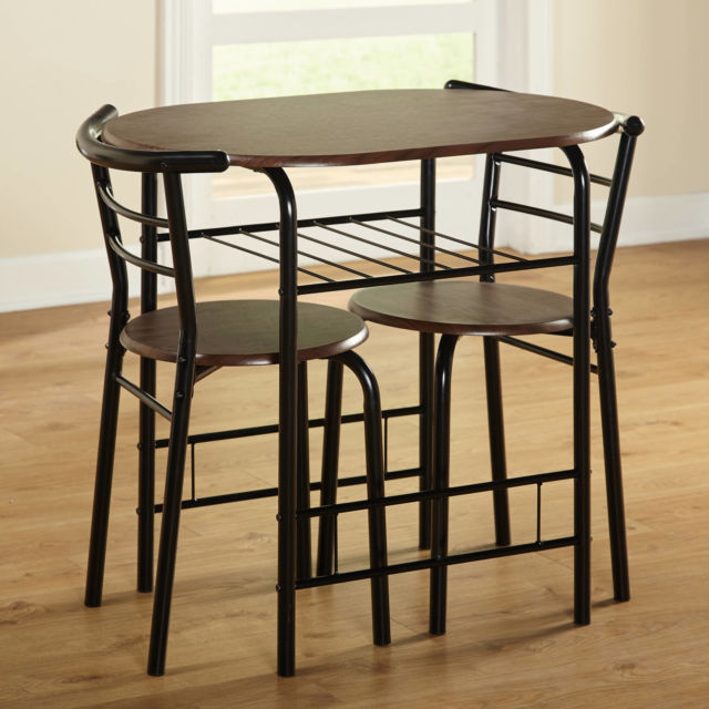 Buy Small Bistro Set Indoor Kitchen Round Dining Table & 2 Chairs