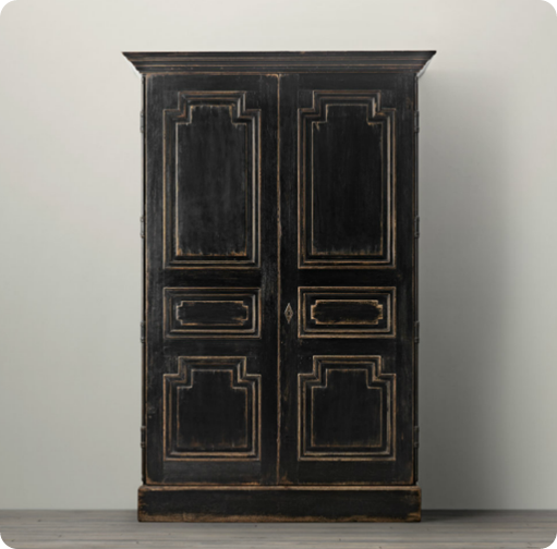 Distressed Black Armoire | furniture | Armoire, Furniture