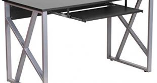 Amazon.com: Flash Furniture Black Computer Desk with Pull-Out
