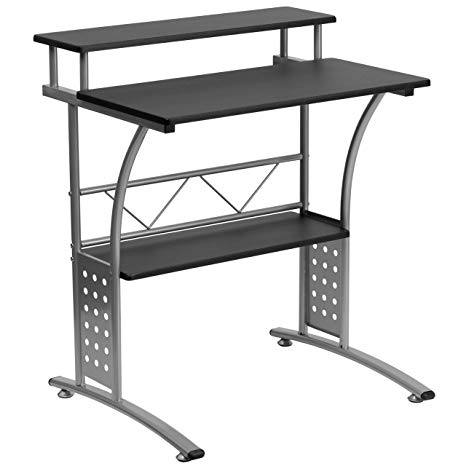 Amazon.com: Flash Furniture Clifton Black Computer Desk: Kitchen
