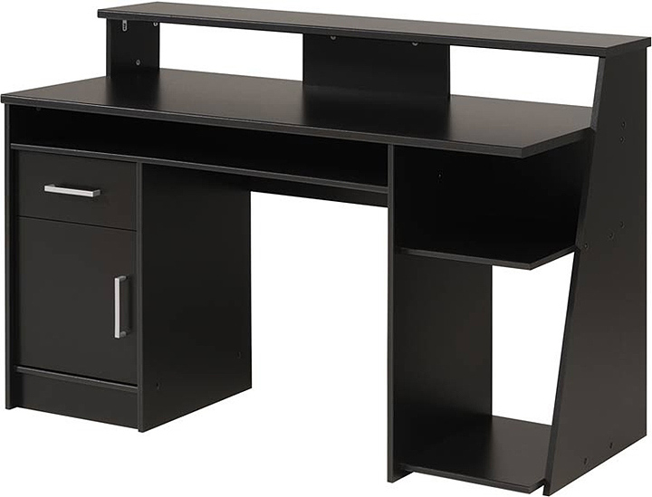 black wood computer desk black computer desk uk - Furnish Ideas