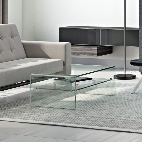Wade Logan Glass Coffee Table & Reviews | Wayfair