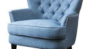 Light Blue Fluffy Chair | Wayfair