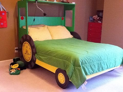 Tractor bed, can modify boys beds to this design in a single bed