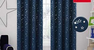 Amazon.com: H.VERSAILTEX 100% Blackout Star Curtains for Boys Room