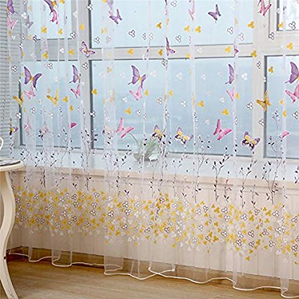 Amazon.com: Butterfly Curtains Butterfly Curtains For Girls Room