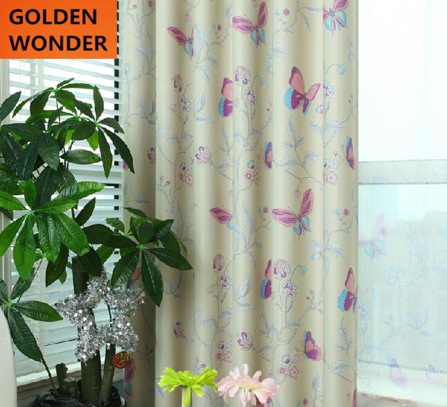 New Design Butterfly Curtains for Living Room High Quality Fabric