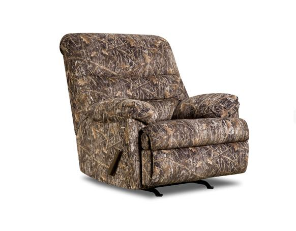 Simmons Upholstery 683 683 Conceal Brown Rocker Recliner | Dunk