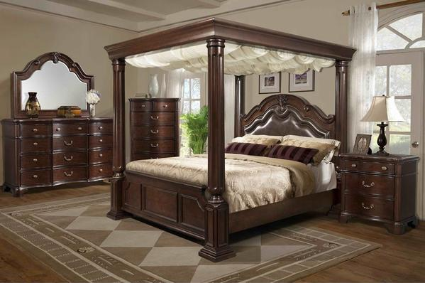 Tabasco Canopy Bedroom Set u2013 Katy Furniture